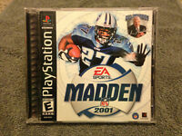 Madden 2001 NFL Playstation 1 EA Sports Game 2000