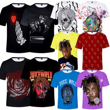 10 Styles Juice Wrld T Shirt Hip Hop Singer Rap Music Trend Rapper 3D Print New