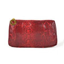 1x ESTEE LAUDER Red Snake Skin Print Makeup Cosmetics Bag, Brand NEW!!
