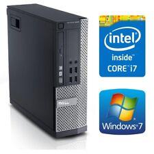 Dell Optiplex 9010 SFF Desktop PC Computer Quad Core i7 3770 8G 128GSSD Win7 Pro