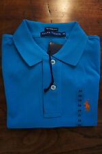Ralph Lauren Turquoise Light Blue Womens SKINNY Polo Shirt Size Extra Small XS