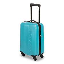Trolley blau ABS Hartschale Cabin Size Handgepäck Reisetrolley Reisekoffer