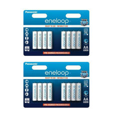 16 Panasonic Eneloop AA BK-3MCCE/8BE min 1900 mAH Rechargeable Batteries