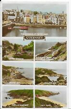 EARLY LOVELY VINTAGE POSTCARD,SEVEN VIEWS,GUERNSEY,CHANEL ISLANDS
