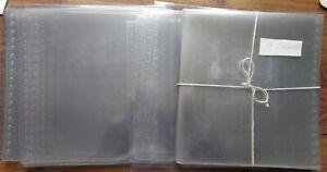 Lindner Clear Exhibition Protectors Blattschutz-Hüllen Glasklar (50) 272 x 296