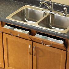 Knape Vogt Kitchen Front Sink Tray Storage Hinges Plastic 15 in White Finish