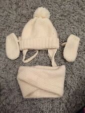 Zara Baby Hat Snood And Mittens 1-3 Years
