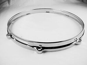 "1PC 14"" 8 hole Die-Cast Snare Drum Hoop Bottom Side Chrome"