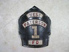 Vintage/Antique Cairns Leather Fire Helmet Shield #1 Dept West Paterson NJ FD
