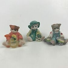 Calico Kittens Miniature Mini Itty 3 Lot Fish Bowl Milk Bottles Salmon Tuna Cans