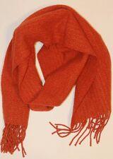 VTG Agnis B Paris Made in Italy Frauen Schal Lämmer Wooly orange Quaste