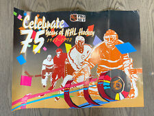 """Vintage NHL Hockey 75 Years Poster 24x18"""" Pro Set Retro 90's Collectible Rare"""
