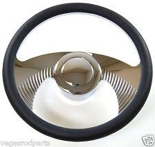 "14"" Chrome Aluminum steering wheel Wing GM chevy custom half wrap inch"