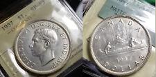 Canada 1937 Dollar Rare Full Rims,  Specimen Strike, Matte, ICCS Specimen 63