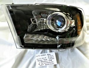 2016-2020 OEM Ram R1500 + 2016-2018 Ram R2500 R3500 Left Headlight  Black Trim
