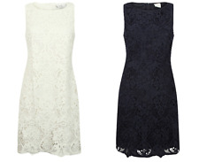 Wallis Petite Navy Floral Lace Overlay Shift Dress in White and Navy Sizes 8-18