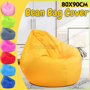 Large Bean Bag Couch Chairs Sofa Cover Indoor Lazy Lounger Wash For