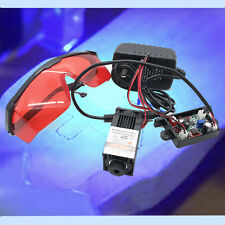 Focusable 450nm 1600mW Blue Laser Module/Testing/Burning/Engraving Gift Goggles