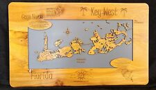 Laser Cut Wood Map of Key West Florida, (Imperfect)