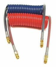 Set of Power Products 11015 15' Working Length Red and Blue Coiled Air Hose Sets