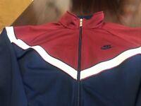 Men's Vintage NIKE BLUE TAG Full Zip Polyester Track Jacket RN 56323 70s 80s L