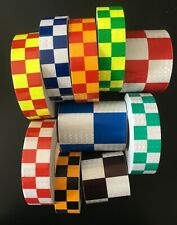 High Intensity Reflective Tape Chequered Safety Vinyl High Viz Self adhesive UK