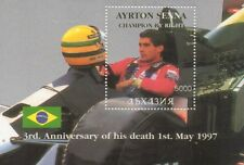 3rd ANNIVERSARY OF DEATH OF AYRTON SENNA FORMULA 1 CAR RACING MNH STAMP SHEETLET