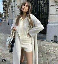 New Zara Cream Knit Playsuit Size L Large Lounge Wear Romper Jumpsuit Bloggers