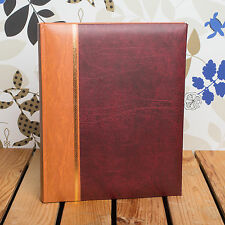 CLASSIC TRADITIONAL 6x4 MEMO 300 PHOTO ALBUM - HOLDS 300 6x4 PHOTOS - Burgundy