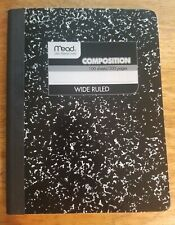 Mead Composition Book/Notebook, Wide Ruled Paper, 100 Sheets (09910)