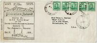 """Pitcairn Island 1939 U.S.S. """"North Star"""" (Adm. Byrd) cover, enroute to Antarctic"""