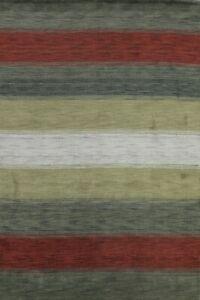 Contemporary Striped Modern Gabbeh Oriental Area Rug Handmade Wool Carpet 6x8