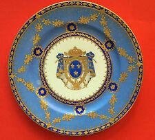 Porzellan Wappenteller FRANZÖSISCHES KÖNIGSWAPPEN, Samson, Paris, um 1890, 12