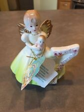 Josef Originals Birthday Angel Girl with Baby Yellow Dress Figurine Age 7 Tag