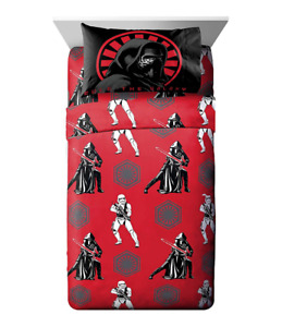 Star Wars VII FULL Sheet Set Force Awakens Kylo Ren Stormtroopers Red Black NEW