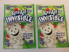 2  Kool Aid Drink Mix INVISIBLE Watermelon Kiwi Packets - Discontinued and rare!