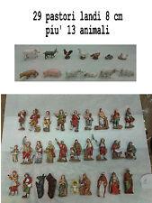 29 pastori landi 8 cm piu 13 animali nativ moranduzzo presepe crib shepherds