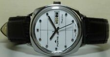 Vintage Fortis Trueline AUTOMATIC Day DATE WRIST WATCH s110 Old used Antique