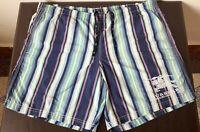 Rare burberry london  trunks blue striped  _  shorts swim _ size 42 Eu