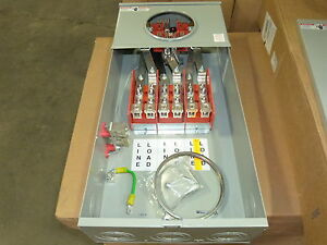 Meter Socket 127TB 7 Jaw 200A 3 Phase 600V Milbank NEW