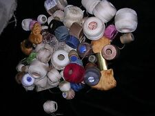 #ZA  3 POUND LOT OF  Vintage Crochet Thread Cotton MIXED LOT