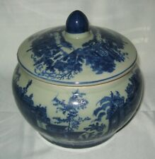 Victoria Ware Ironstone Flow Blue Casserole with Lid Mark