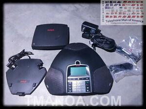 Avaya B169 Analog Phone Line Wireless Conference Phone 700508893 w Accessories