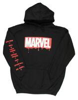 Marvel Men's Classic Logo Drip Adult Graphic Hoodie, Medium