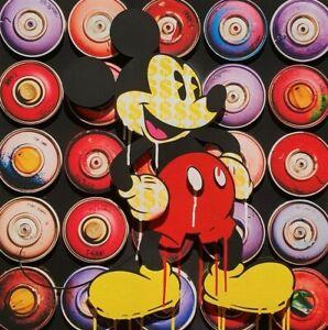 BEN ALLEN 3D Popaganda Cans Mickey Handsigniert Mouse NEU POPART