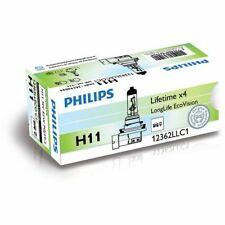 PHILIPS LongLife EcoVision H11 12V 55W Headlight Bulb (Single) 12362LLECOC1