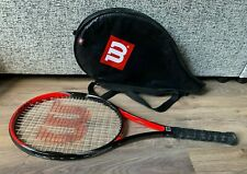 Wilson Hammer Comp Tennis Racket- With Cover- Good Condition- 4 1/4- Red & Black