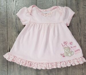 Baby Girl Clothes Vintage Carter's Newborn Bear Hugs Love My Little Teddy Dress