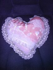 """Lace Heart Pillow -Victorian"""" - New - #2 - Heirloom, Decorative"
