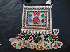 NWT Silver tone Enameled BAJALIA STATEMENT Necklace w/ Dangles from India HSN